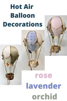 Birthday Kids, Paper Crafts, Diy Crafts, Wedding Crafts, Balloon Decorations, Hot Air Balloon, Wooden Beads, Natural Materials, True Colors
