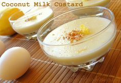 Thermomix coconut milk lemon custard - if can remove the flour would be ok for gaps