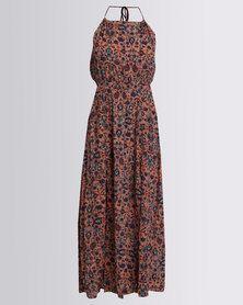 Billabong Spice Temple Maxi Dress Coral