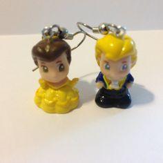 Squinkies Earrings   Belle & Prince Adam  made from by ErinEtc, $5.99
