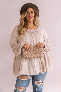 The Best Intentions Shift Top In Birch Plus Size Womens Clothing, Plus Size Outfits, Plus Size Fashion, Clothes For Women, Curvy Girl Outfits, Retro Outfits, Cute Outfits, Looks Plus Size, Curvy Plus Size