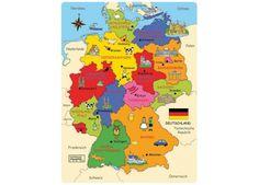 Deutschland-Karte als Puzzle von Montessori bei Spielundlern online bestellen
