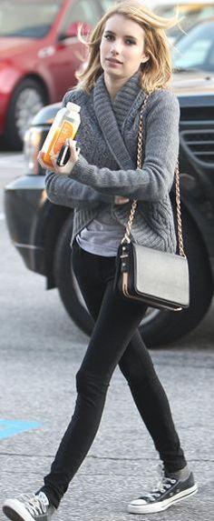 Sweater – Theme, Shoes – Convers, Purse – Rachel Zoe