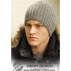 7595b231307da Men s Hat FREE Knitting Pattern in Textured Design in DROPS Mens Hat  Knitting Pattern