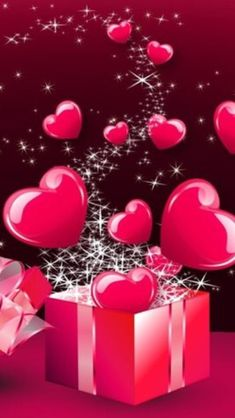 Box of red hearts Love Heart Images Hd, Love You Images, Heart Pictures, Heart Wallpaper, Love Wallpaper, Iphone Wallpaper, Happy Birthday Wishes, Birthday Greetings, Birthday Cards