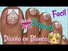 Cute Pedicure Designs, Toe Nail Designs, Pretty Toe Nails, Love Nails, Pretty Toes, Pedicure Nail Art, Toe Nail Art, Hello Nails, Glitter Nail Polish