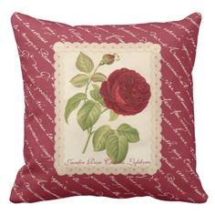 Jardin Rose Charles Lefebvre Throw Pillow