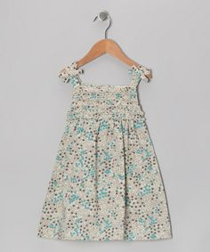 Take a look at this Light Blue Floral Patch Swing Dress - Infant, Toddler & Girls by Rim Zim Kids on #zulily today!