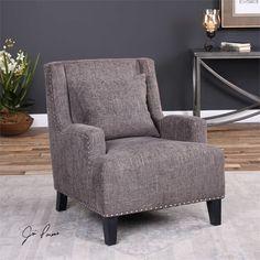 Uttermost Malvin Gray Armchair