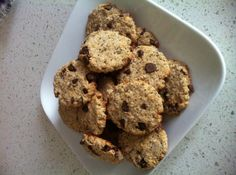 Ripped Recipes - Vegan Chocolate Chip Oat Cookies - No sugar added soft chocolate chip oat cookies that are also oil free, soy free and gluten free!