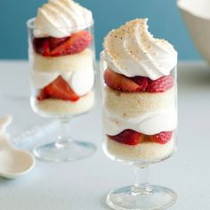 Individual Strawberry Trifles Recipe #recipes #spring #dessert
