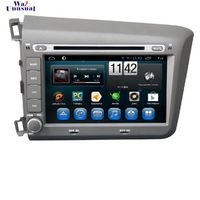 8'' Android 4.4 Car DVD Player for Honda CIVIC left 2012 (grey or black) Quad Core 16G 1024*600 GPS Navigation free shipping