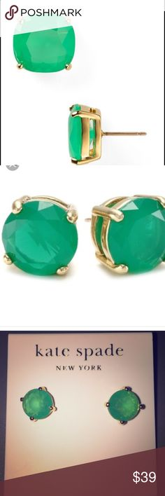 ✨SALE✨Bright Beryl Studs Kate Spade Studs: Bright Beryl. NWT. Comes with earring holder and box. Questions, ask below   🚫NO TRADES 🚫NO HOLDS 🚫NO NEGATIVITY 🚫🚫NO LOW BLOWS, will be DECLINED kate spade Jewelry Earrings