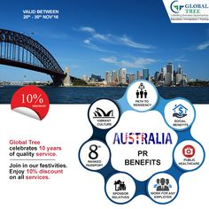 Our visa counsellors have in-depth knowledge on the prerequisites of the updated #Australian #PR visas and are well trained to service your requests. They leave no stone unturned in helping you obtain your visa. Contact us at : 91-8142 826 826 & fill in the form for free counselling http://globaltree.co.in/free-counselling