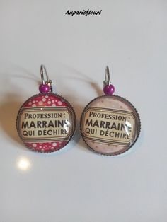 boucles d'oreilles argentées via Auparisfleuri. Click on the image to see more!