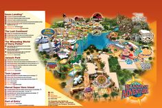 Orlando Islands of Adventure map Island Of Adventure Orlando, Adventure Map, Legoland Florida, Disney 2017, Orlando Travel, Blog Love, Teacher Blogs, Florida Travel, Amusement Park