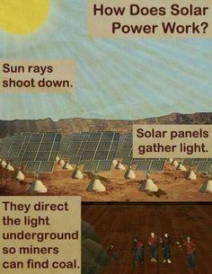 Solar energy.