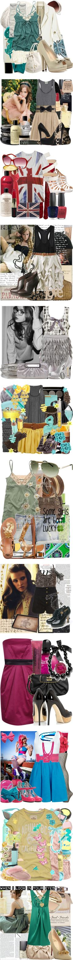 """Old Sets that I'm Proud Of"" by sweetart1699 ❤ liked on Polyvore"