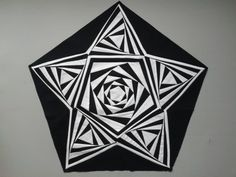 (GREAT EXAMPLE OF DETAIL WITH PAPER PIECING)  Foundation Pieced Five Point Star (Great crisp lines for stars can be made with paper piecing.)