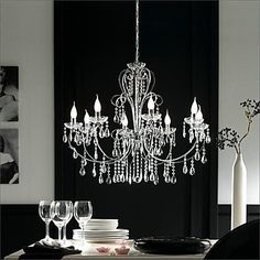 Chandeliers Crystal Traditional/Classic Bedroom/Dining Room/Study Room/Office/Hallway Metal – USD $ 259.99