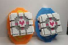 Perler beads Portal companion cubes wall decor or magnets