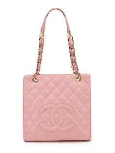 Chanel Pink Caviar Leather Petit Shopper Tote