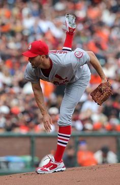 Starting pitcher- Adam Wainwright pitches against the Giants.  Cards won the game 14-3.  4-07-13
