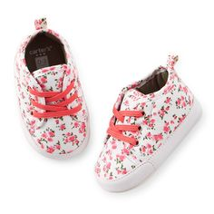 5951ef0c95b291 floral sneaker crib shoes. Carters Baby Shoes