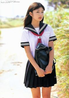 A Sailor Fuku is the traditional uniform of Japanese school girls. This one is very similar to the one Etsuko and her classmates wear.