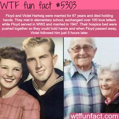Floyd and Violet Hartwig die together while holding hands - WTF fun facts True Love