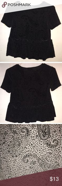 Textured velvet top with paisley pattern Topshop textured velvet top with paisley pattern Topshop Tops