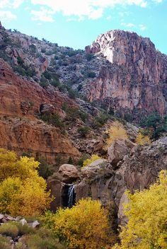 Frijoles Canyon in Fall,  Bandelier National Monument.
