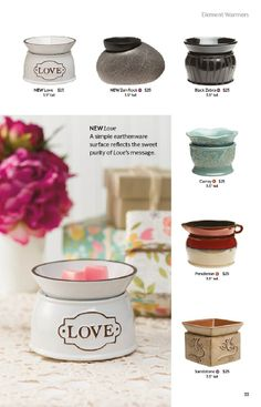 Scentsy Element Warmers - $25.00 Each