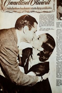 Laurence Olivier and Vivien Leigh Finnish movie magazine article