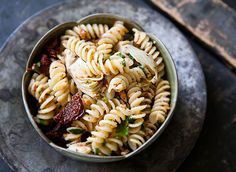 Pasta with Artichoke Hearts, Sun Dried Tomatoes, and Toasted Almonds recipe by Simply Recipes