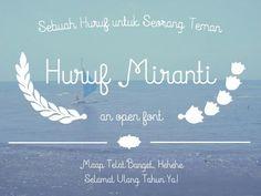 Huruf Miranti font by Gunarta - FontSpace*