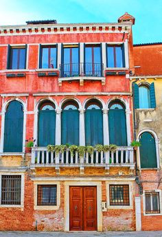 Rainbow buildings in Venice