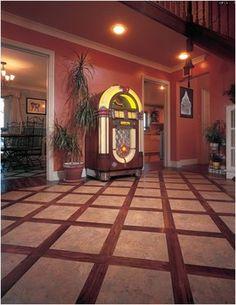 lvt patterns | Luxury vinyl tile and wood plank floor in grid pattern Photo: Karndean ...