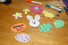 Easter Crafts for Toddlers - Easter Magnets