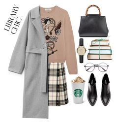 """""""Library Chic"""" by pure-vnom ❤ liked on Polyvore featuring Miu Miu, Valentino, Gucci, Burberry and librarychic"""