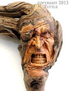 Wood Spirit by psychosculptor.deviantart.com on @deviantART