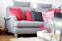 Oravanpesä | Furninova Birgminham -sohva Decor, Furniture, Throw Pillows, Love Seat, Home Decor, Bed, Pillows, Couch