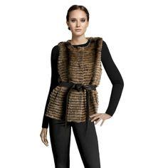 Belle Fare Layered Rex Short Vest In Multi Taupe featured in vente-privee.com