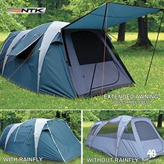 NTK Super Arizona GT up to 12 Person 20.6 by 10.2 by 6.9 Height Foot Sport Family XL Camping Tent 100% Waterproof 2500mm Tent : Sports & Outdoors