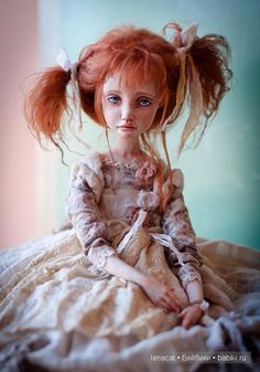Art doll by Helena Oplakanskaуа Pretty Dolls, Beautiful Dolls, Bjd, Sea Crafts, Real Doll, Polymer Clay Dolls, Old Dolls, Kokeshi Dolls, Fairy Dolls