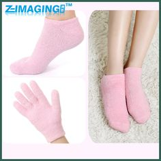 1 Pair of glove+socks SPA Gel Moisturizing socks Whiten Soften Skin que