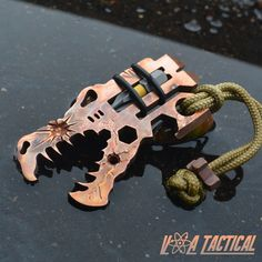 Copper EDC multitool tactical Jurassic Croc by Vice & Anvil Tactical. Upgrade your every day carry gear today. Perfect for the pockets or a bug out bag.