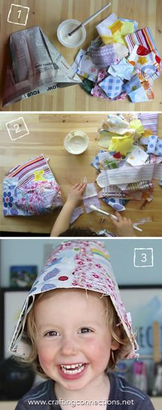 How to Fold a Newspaper Bucket Hat. We loved the story Special Sun Hat by Sparkle Stories so we've decided to make our own version! Watch the cute video to see how to fold your own newspaper hat (and we dare you not to smile along at the end!!)