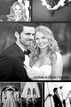 Colin O'Donoghue -Killian Jones - Captain Hook and Jennifer Morrison - Emma Swan on Once Upon A Time