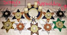 Adventkranz aus Kaffeekapsel  Teelichtsterne aus Teekapseln und Kaffeekapsel Nespresso, Advent Calendar, Holiday Decor, Home Decor, Candles, Bricolage, Stars, Xmas, Jewerly